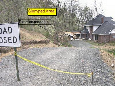 Landslide near Heber Springs, AR