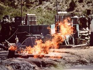 Air Drilling Philadelphia Creek, S of Rangley CO - 1978